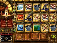 Play the video slots game Wizards Castle for free or for money at 1onlinecasino.com