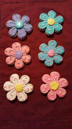 Fancy Sugar Cookies, Flower Sugar Cookies, Sugar Cookie Royal Icing, Mother's Day Cookies, Summer Cookies, Iced Cookies, Cute Cookies, Easter Cookies, Holiday Cookies
