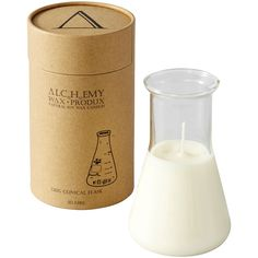 Alchemy Wax Candle in conical flask or beaker. For Becky