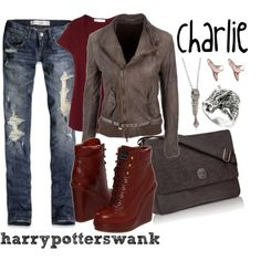 When you want to look good, but are a complete nerd. Harry Potter Mode, Harry Potter Style, Harry Potter Outfits, Nerd Fashion, Fandom Fashion, Punk Fashion, Lolita Fashion, Fashion Boots, Disney Themed Outfits