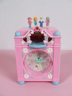 Polly Pocket - 1991 Fun Time Clock Playset aka Bedtime Clock Play-Set or aka Polly's Fairy Clock which come with Blue, Pink and Pink Sparkle Colour.