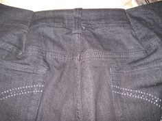 How to sew darts into pants to make waistband smaller.