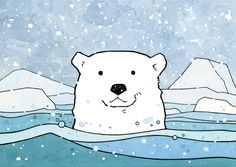 Polar Bear Drawing - studio tuesday