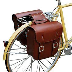 SENQI Retro Bicycle Rack Bag Leather Rear Rack Bike Bags Robust Rear Seatpost Bag for Retro Bicycle Saddle Rack Accessories Bike Saddle Bags, Saddle Rack, Bike Bag, Velo Retro, Retro Bicycle, Kids Bicycle, Leather Bicycle, Leather Bag, Motorcycle Leather