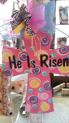 Hey, I found this really awesome Etsy listing at https://www.etsy.com/listing/125269831/easter-he-is-risen-large-handpainted