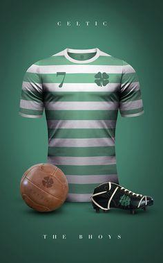 Emilio Sansolini maillot vintage Celtic Glasgow