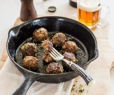 Basic Meatballs panko breadcrumbs ¼ cup milk ¼ cup egg 1 premium beef mince 500 grams onion finely diced garlic 1 clove, finely chopped beef stock powder 1 teaspoon herbs 1 tablespoon, freshly chopped, plus extra to garnish Meatball Recipes, Beef Recipes, Cooking Recipes, Recipies, Healthy Snacks, Healthy Recipes, Yummy Recipes, How To Cook Meatballs, One Pot Dinners