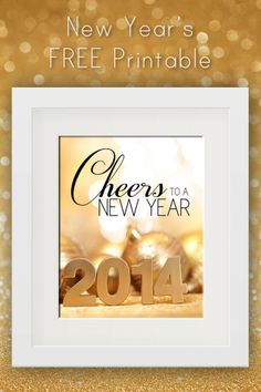 Free New Year's Printable!  Instant NYE decor!