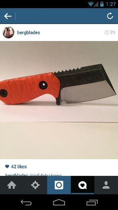 New pocket fixed blade in the works. Dine by Berg Blades. Check him out on instagram.