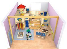 Bauraum spielen bauen raumkonzepte kinder unter 3 for Spielpodest kinderzimmer