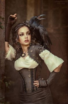 Wondering what is Steampunk? Visit our website for more information on the latest with photos and videos on Steampunk clothes, art, technology and more. Moda Steampunk, Steampunk Couture, Style Steampunk, Victorian Steampunk, Victorian Corset, Victorian Dresses, Neo Victorian, Steampunk Cosplay, Steampunk Outfits