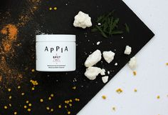 """APPIA Branding & Packaging by Nouvelle Administration """"Appia offers spa treatments at home and to travellers in renowned local hotels. They are also the creators of various natural skin products as..."""