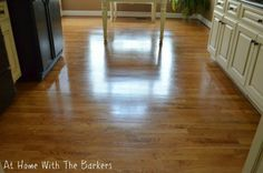 How to get your floors to shine - At Home With The Barkers