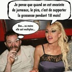 Je pense que quand on est enceinte de jumeaux - Humour-France.fr Humour Blonde, Best Quotes, Funny Quotes, Funny French, Lol, Funny Art, Funny Moments, Sarcasm, I Laughed