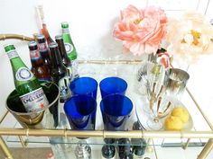 Bar cart for night in with the girls. Picture from: HRHCollection blog.