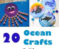 ocean kid crafts - crafts for kids- kid crafts - acraftylife.com #preschool