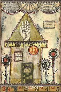 house postcard by nayski (Renee Stien), via Flickr