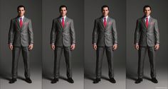 2 Button Suit Jacket with notched lapel and pocket variations