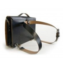 Transformable, 3-in-1 Leather Messenger Bag--Veg-tan