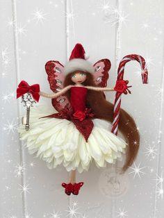 Christmas Tree Fairy, Christmas Angels, Vintage Christmas, Christmas Crafts, Christmas Ornaments, Fairy Crafts, Angel Crafts, Doll Crafts, Yarn Dolls
