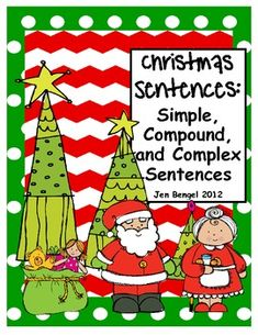 Teach simple, compound, and complex sentences with these printable bookmarks and worksheets.  They work great for independent work and assessing:)