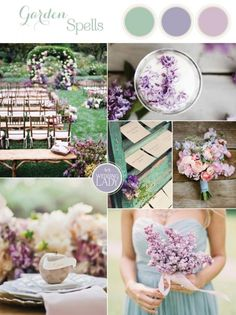Enchanting Lilac and Soft Green Southern Garden Wedding