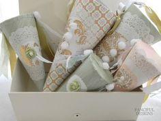 beautiful paper cones