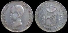 5 pesetas, 1888