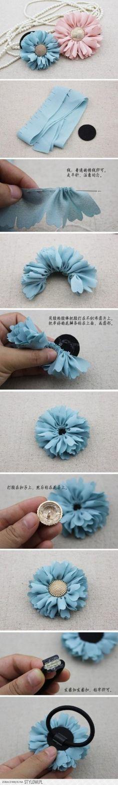 DIY Haar Bloem