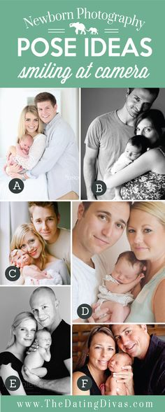 Precious Newborn Photography Pose Ideas with Smiling At the Camera
