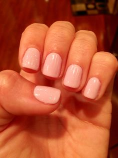 Colors are Cake Pop with Mother of Pearl on top by #Shellac! #nailspotting
