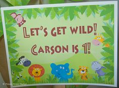 jungle safari birthday sign - Jungle Safari Printables for Birthday or Baby Shower by Press Print Party! #jungle #party