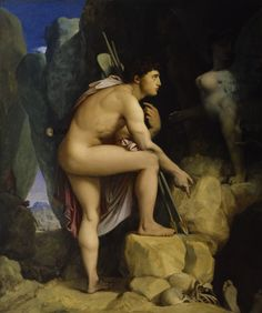 Oedipus and the Sphinx ~ by Jean-Auguste-Dominique Ingres…