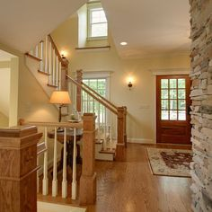 Color scheme of how our house would look with stair spindles and baseboards painted white.