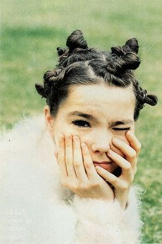 Bjork 90's hair. Love it.