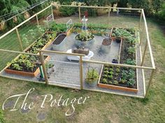 the potager fenced vegetable garden with raised beds - Deer Proof Vegetable Garden Ideas