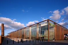 Built by Broadway Malyan in Chester, United Kingdom with date 2014. Images by Edmund Sumner. Waitrose is a commercial development located on a key arterial route into Chester City Centre. The scheme, designed b...
