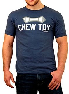 Ajaxx63 Men's Chew Toy Muscle Athletic Shirt Large. Custom sewn. Designed with tight fitting banded sleeves. Slightly tapered athletic fit. Preshrunk for great fit wash after wash. Machine Wash.