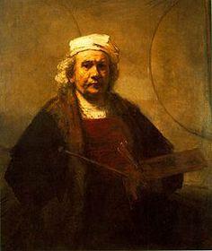 Driehoeks compositie, je ziet een driehoek in het schilderij.