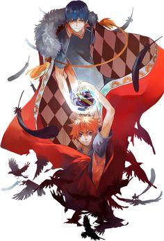 Tobio Kageyama and Shoyo Hinata   Amazing artwork~♡   T : Karasuno   Haikyuu!! ✧