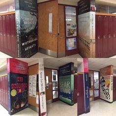 "21stCenturyTutoring on Instagram: ""Look what @mundeleinhighschool has done to their hallways!  Now THIS is a #literacyrichenvironment ❤️👍👌🙌"" Never Let Me Go, Hallways, Literacy, Lockers, Locker Storage, Environment, Instagram, Foyers, Locker"