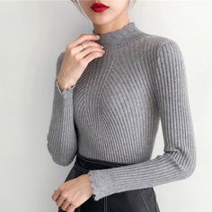 Jersey Mujer Invierno 2018 Thick Women Sweater and Pullovers Turtleneck Long Sleeve Hollow Out Solid Sueter Mujer Pull Femme - Jersey Mujer Invierno 2018 Thick Women Sweater and Pullovers Turtlenec – rodewe Source by liligak - Outfits For Teens, Fall Outfits, Cute Outfits, Classy Outfits, Work Outfits, Casual Outfits, Summer Outfits, Winter Fashion Casual, Casual Winter