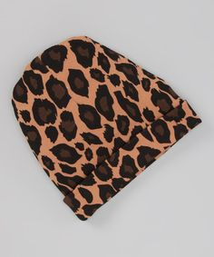 Take a look at this Coffee Leopard Beanie by Infinitely Sweet on #zulily today!