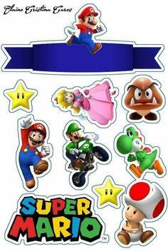 topo de bolo super mario #bolomario #bolosupermario #festamario #mariobros Bolo Do Mario, Bolo Super Mario, Mario Bros., Mario And Luigi, Mario Kart, Mario Birthday Cake, Super Mario Birthday, Super Mario Party, Super Mario Brothers