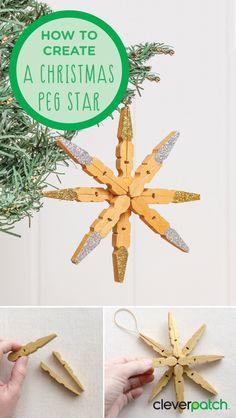 How to create a Christmas Peg Star!