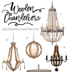 We are in the middle of closing on our new house, and I have been spending time thinking about how we will style & decorate it. I've bookmarked fixtures & furniture that I want to use and thought I would share my vision and inspiration with you. So here's some gorgeous Wooden Farmhouse Chandeliers I found from Amazon.