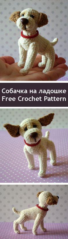 PDF Собачка на ладошке. FREE amigurumi crochet pattern. Бесплатный мастер-класс, схема и описание для вязания игрушки амигуруми крючком. Вяжем игрушки своими руками! #амигуруми #amigurumi #схема #описание #мк #pattern #вязание #crochet #knitting #toy #handmade #поделки #pdf #рукоделие #собака #собачка #щенок #пёс #пёсик #dog #doggie #doggy #puppy