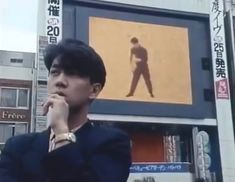 """Young Ryuichi Sakamoto 坂本龍一 (A scene from """"Tokyo Melody"""", 1985 documentary that features him)"""