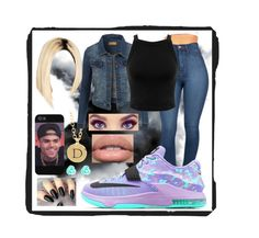 """Here I Come"" by destinyd-w ❤ liked on Polyvore featuring LE3NO, NIKE, Miss Selfridge and Accessorize"