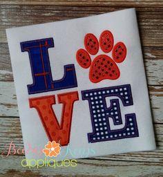 Baby Kay's Appliques - LOVE Pawprint 4x4, 5x7, 6x10, 8x8, $4.00 (http://www.babykaysappliques.com/love-pawprint-4x4-5x7-6x10-8x8/)